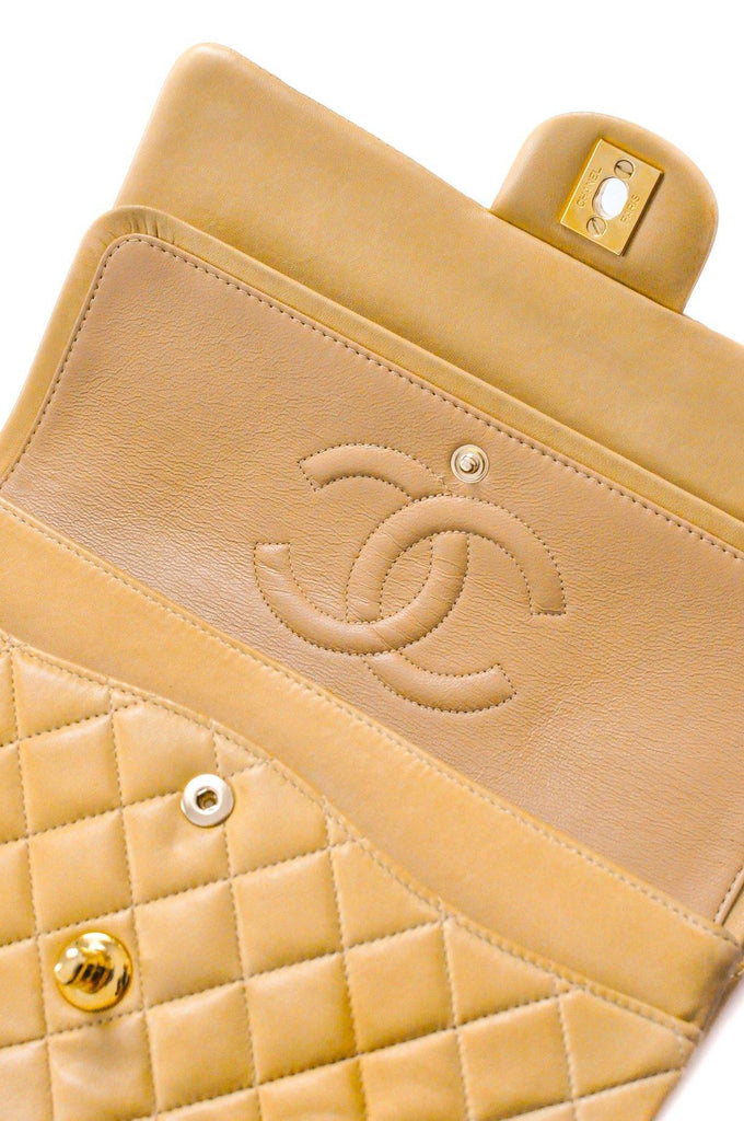 Chanel 2.55 Beige Lambskin Flap Bag