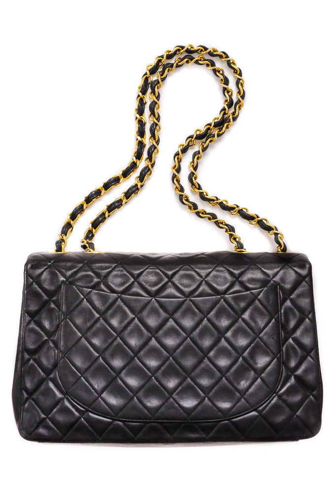 Chanel Jumbo Black Lambskin Flap Bag