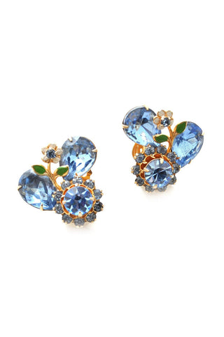 60s__Vintage__Floral Statement Clip-On Earrings