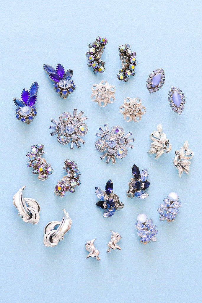 Floral Crawler Clip-on Earrings