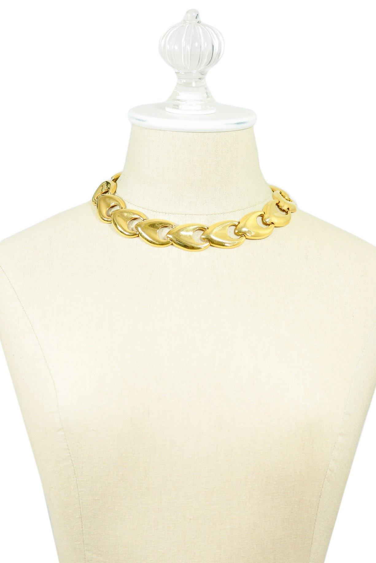 80's__Monet__Chunky Gold Statement Necklace