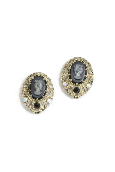 50's__Vintage__Cameo Clip-On Earrings