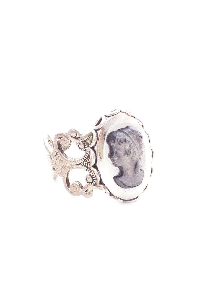 Adjustable Cameo Filagree Ring