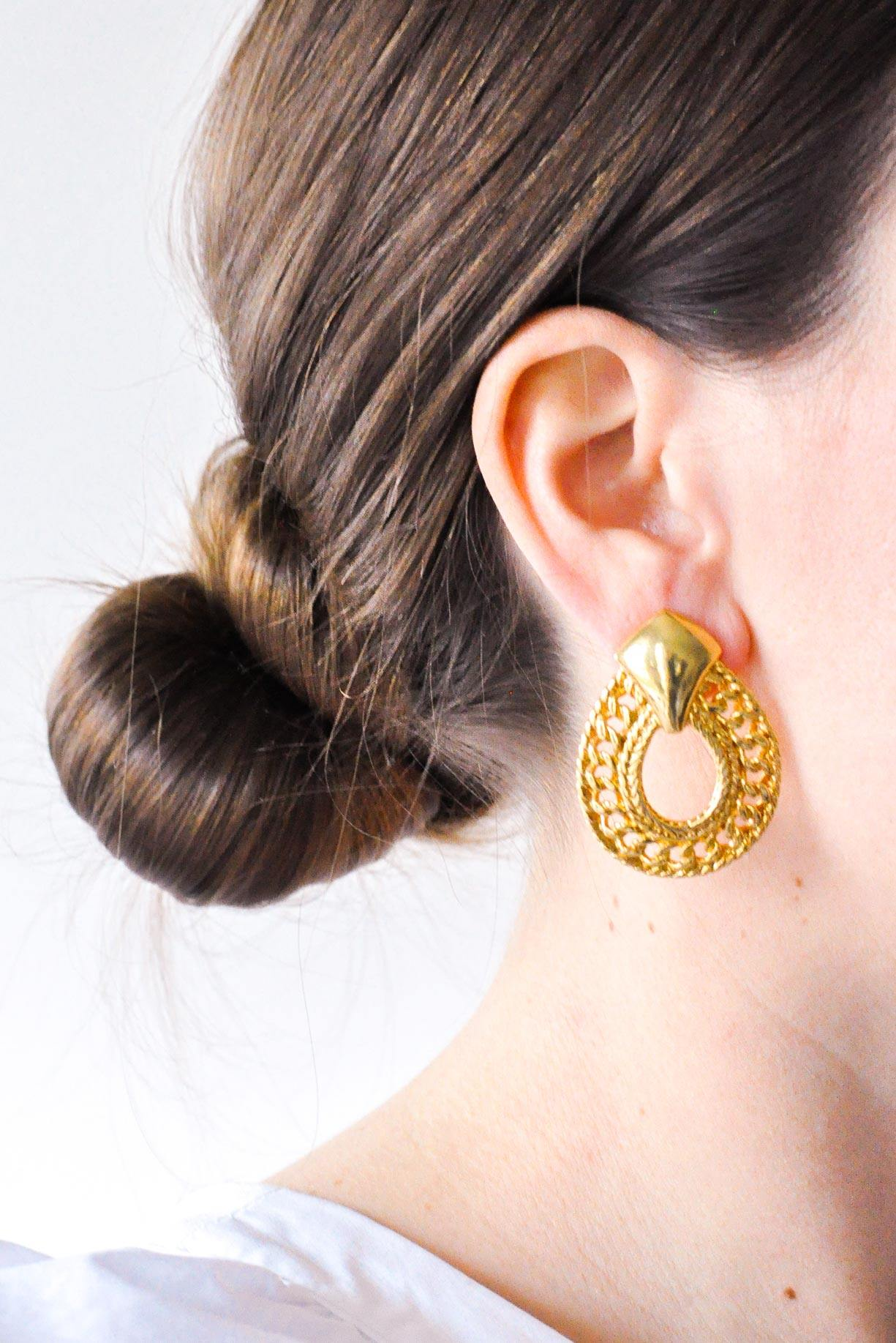 Statement Hoop Pierced Earrings