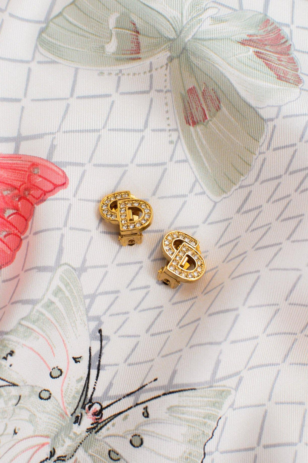 Christian Dior Logo Clip-on Earrings