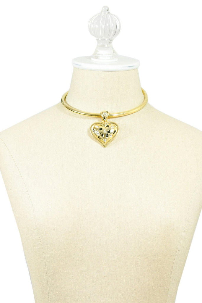 80's__Vintage__Chunky Heart Choker Necklace