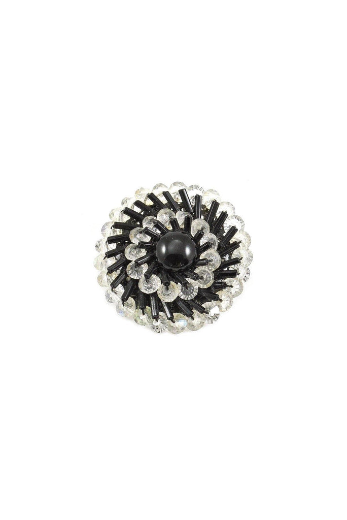 60s__Vintage__Beaded Circle Brooch
