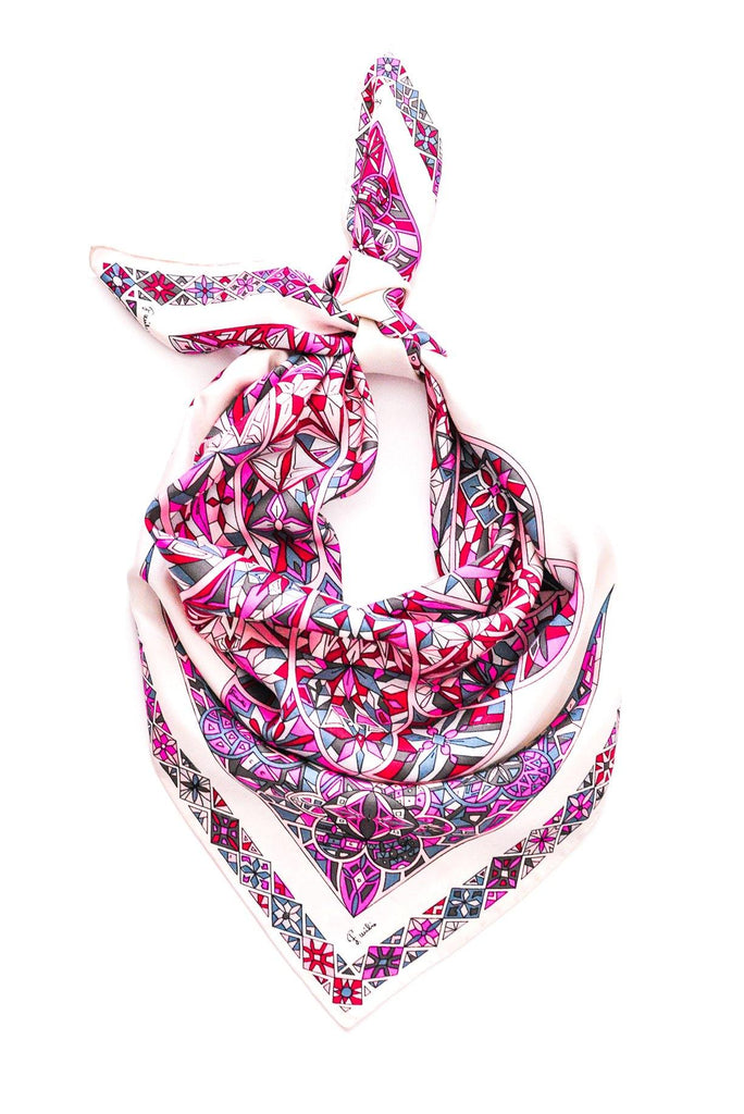 Pucci Geometric Large Square Scarf