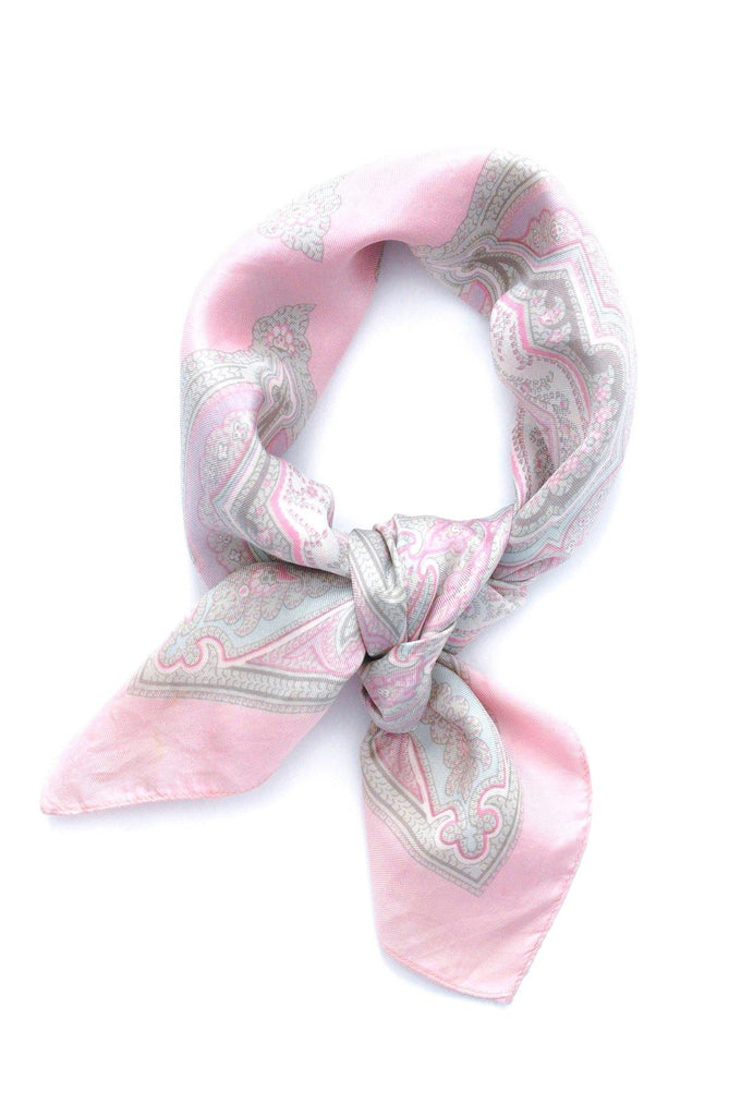 Liberty of London Pink Paisley Square Scarf