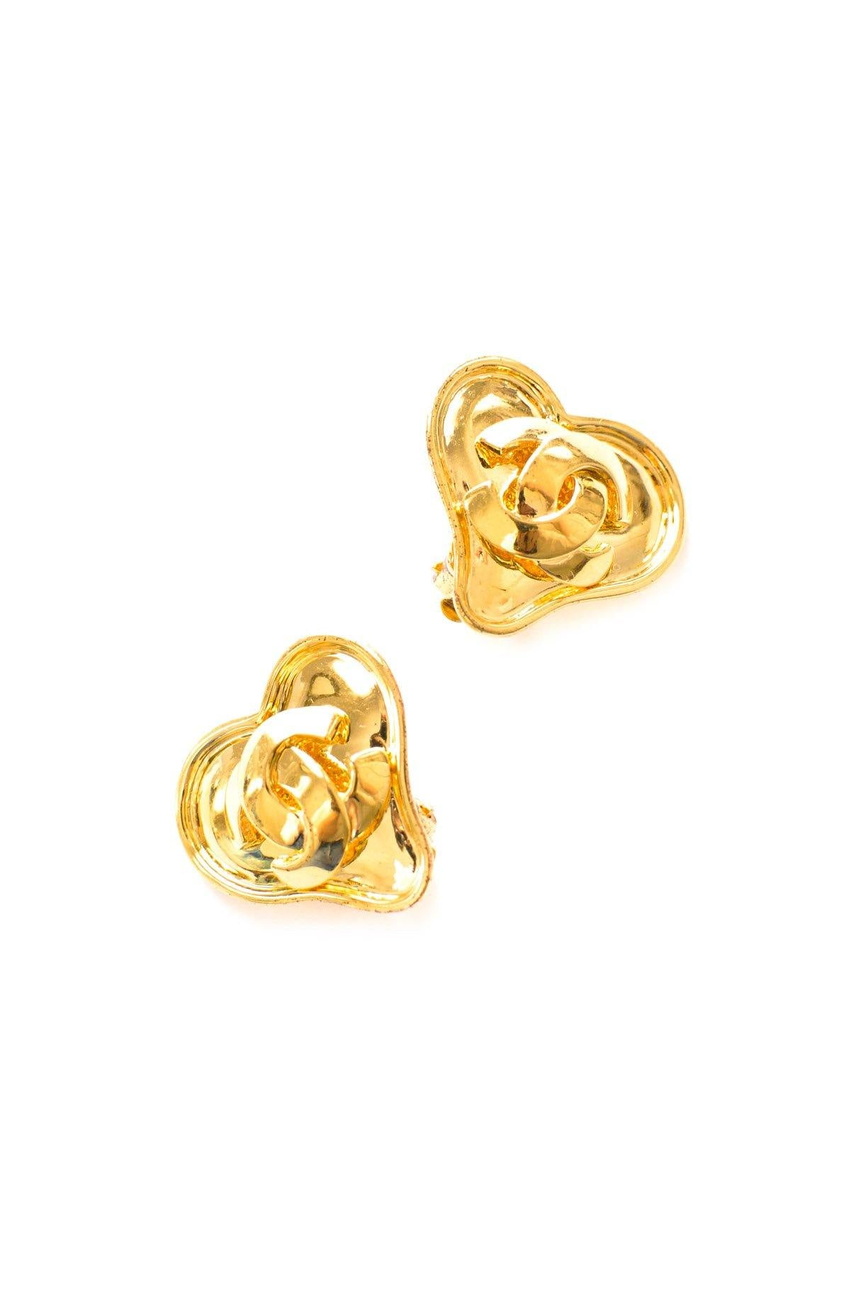 Chanel Puffy Heart Clip-on Earrings