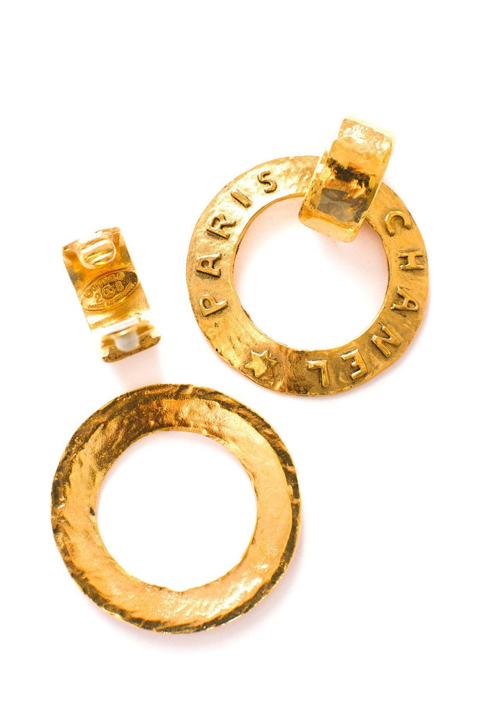 Chanel Statement Hoop Clip-on Earrings