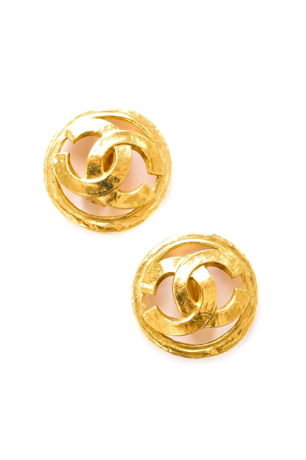 Chanel Statement CC Logo Clip-on Earrings