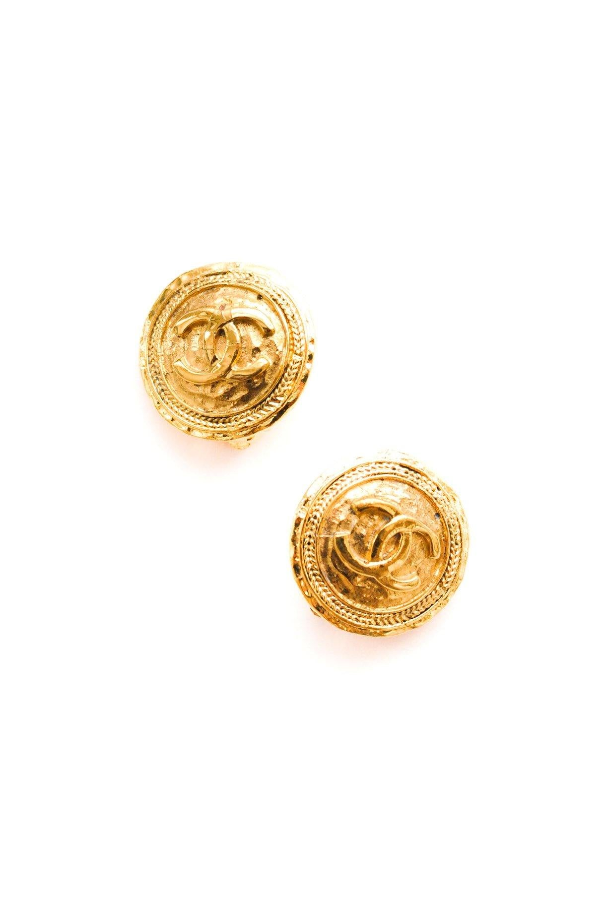 Chanel Coin Clip-on Earrings