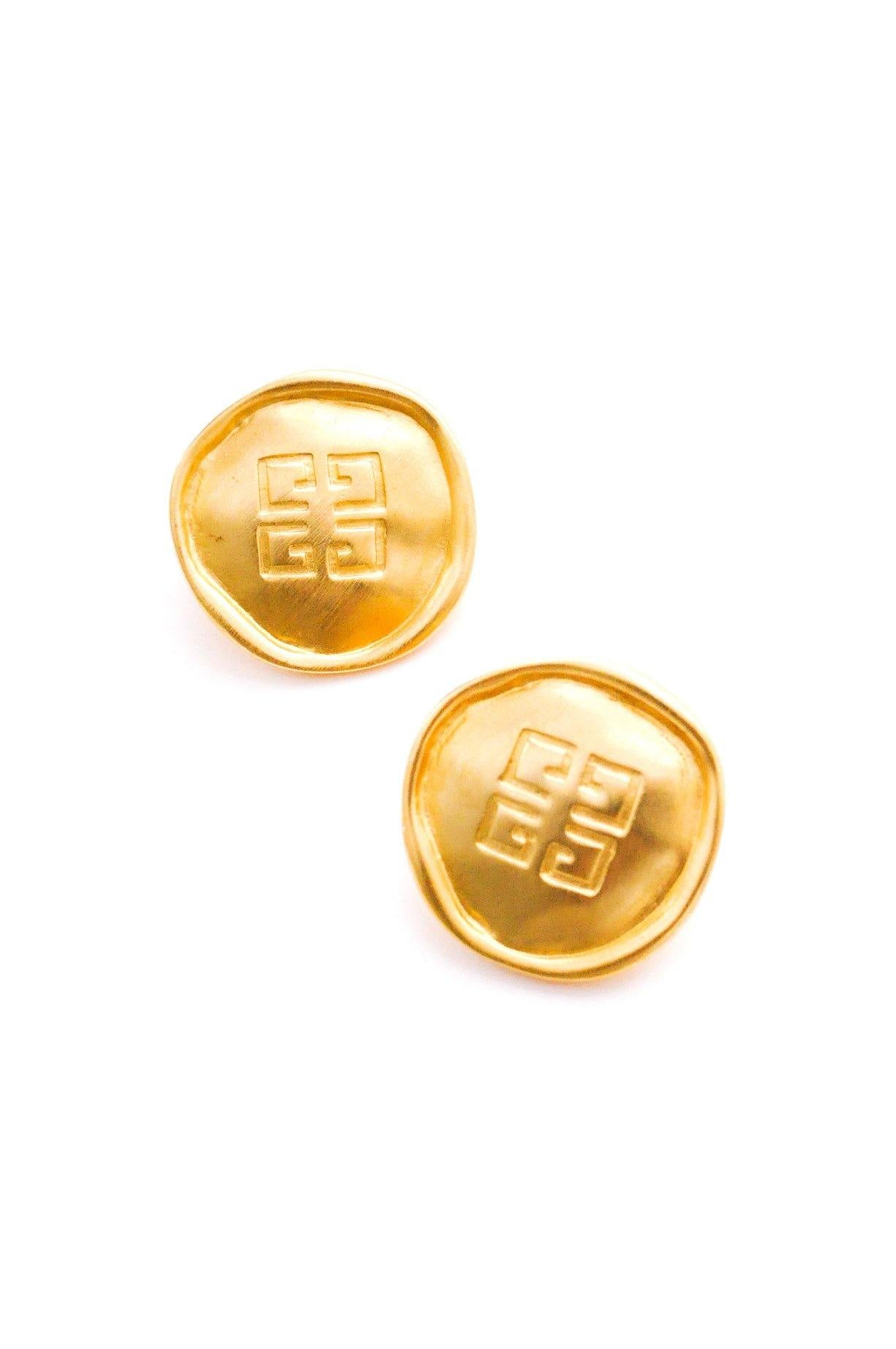 Givenchy GG Disc Clip-on Earrings