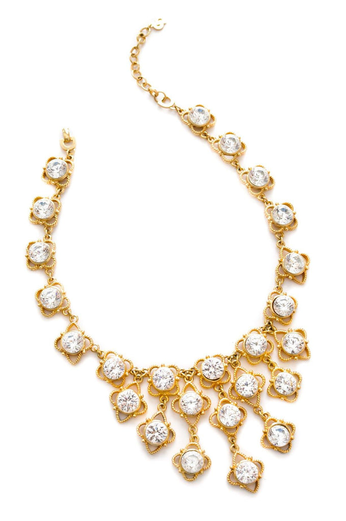 Christian Dior Rhinestone Statement Necklace