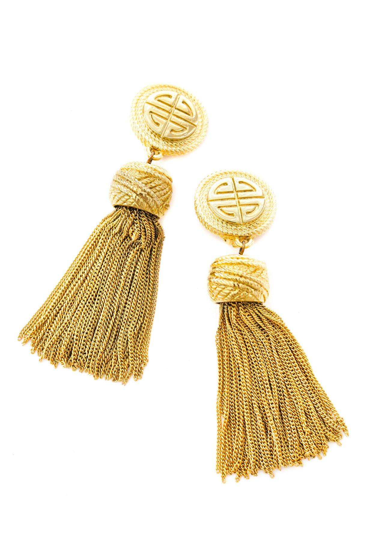 Givenchy Statement Tassel Clip-on Earrings