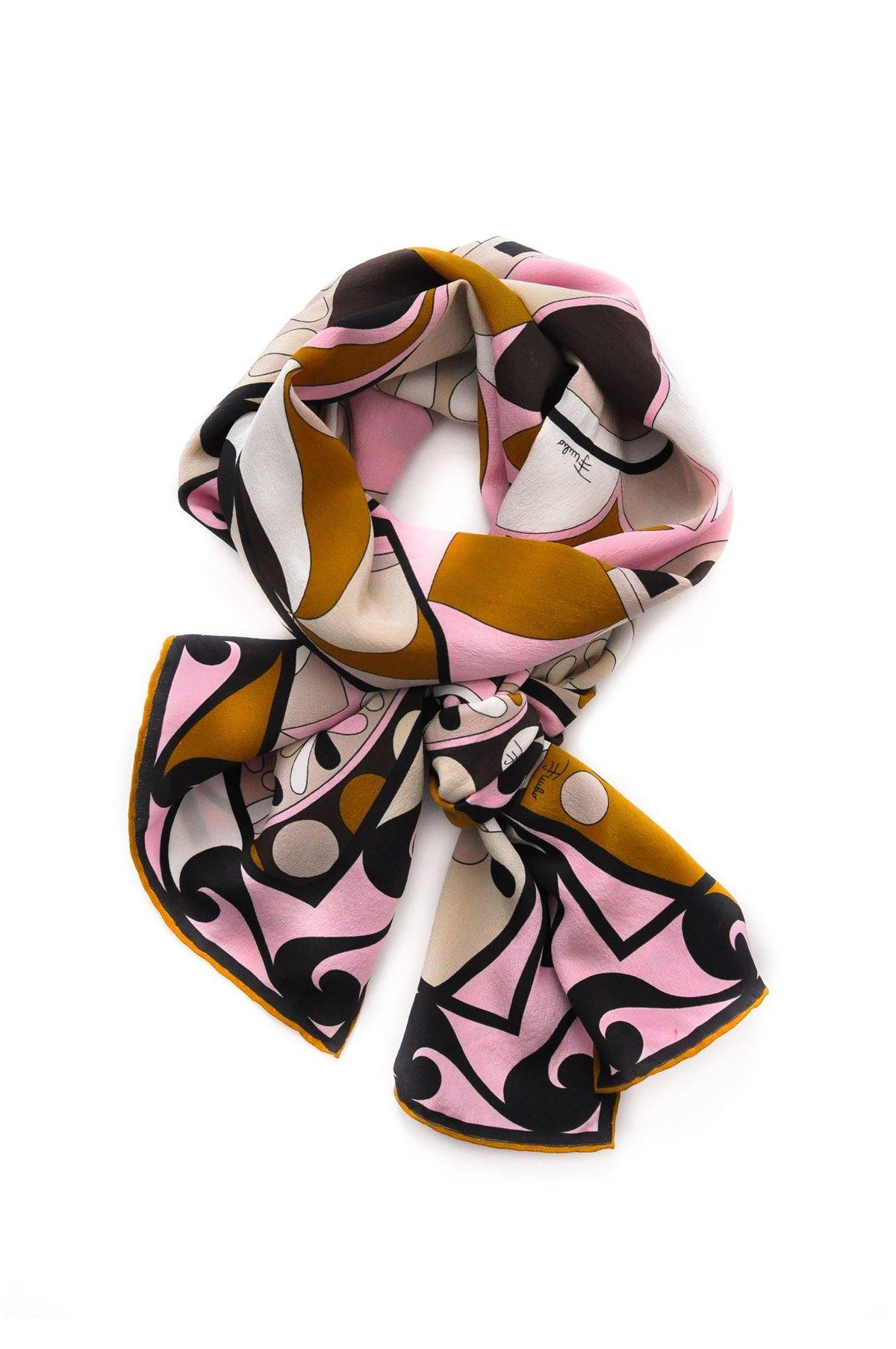 Vintage Pucci geometric rectangle scarf from Sweet & Spark.