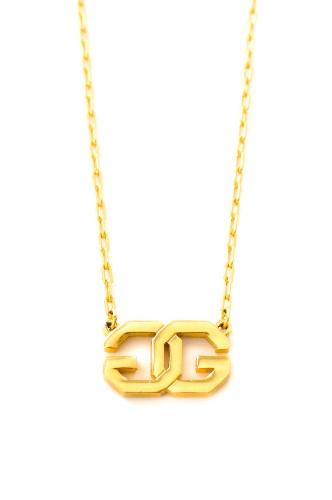 Givenchy Logo Pendant Necklace