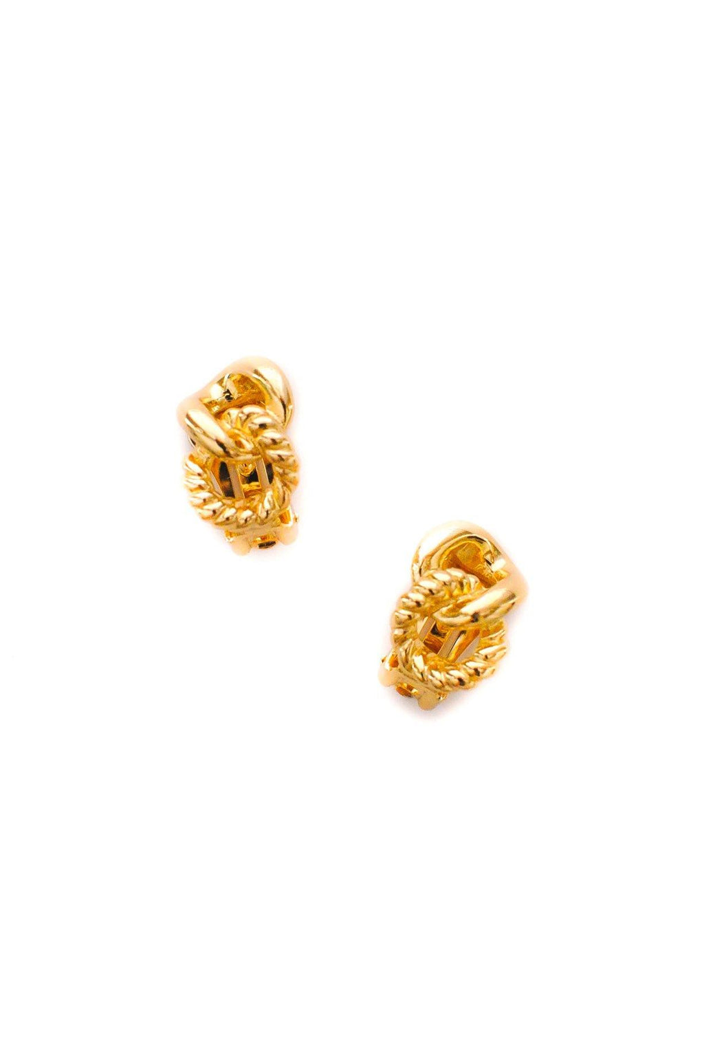 Christian Dior Knot Clip-on Earrings