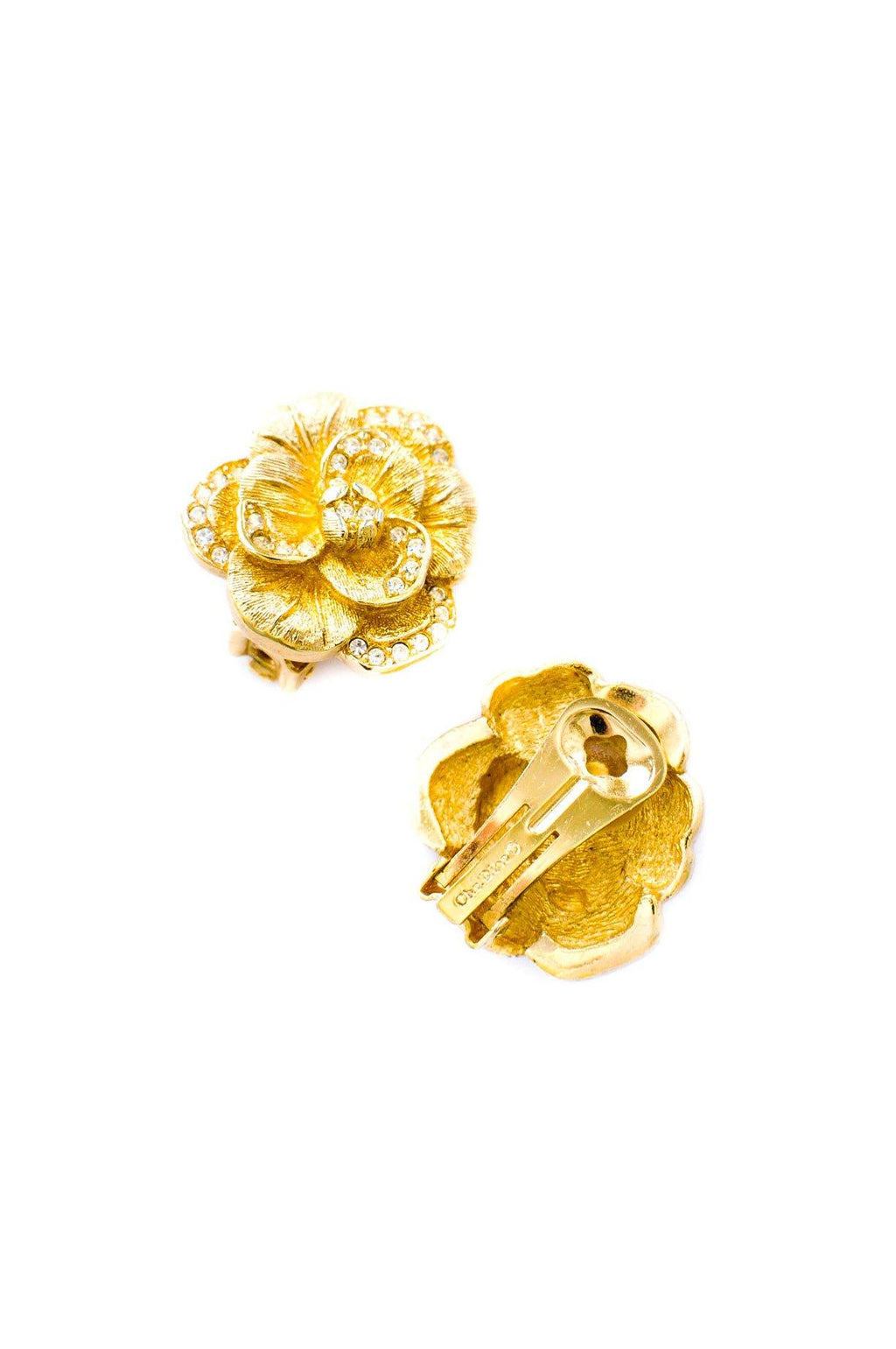 Christian Dior Floral Clip-on Earrings