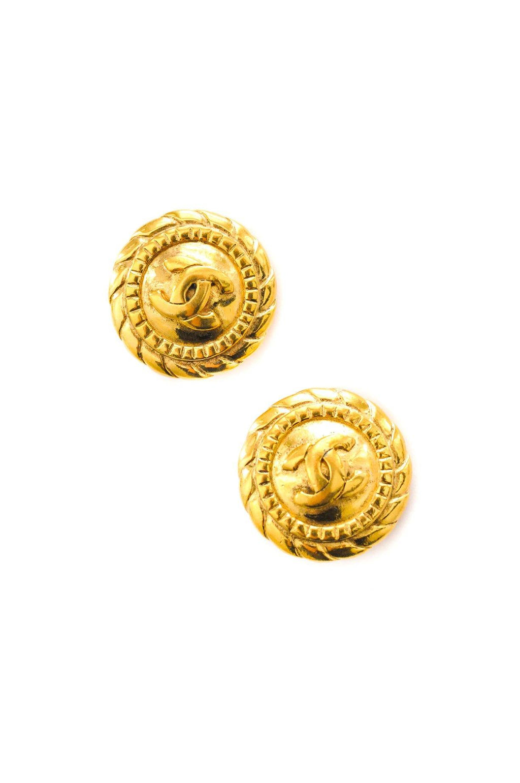 Chanel Rope Wrapped Clip-on Earrings