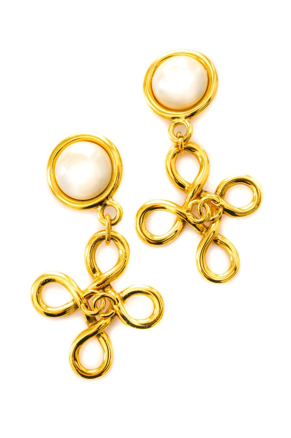 Chanel Twisted Pearl Clip-on Earrings