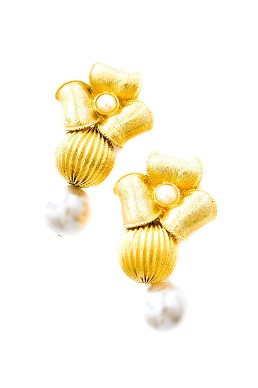 Givenchy Pearl Floral Clip-on Earrings