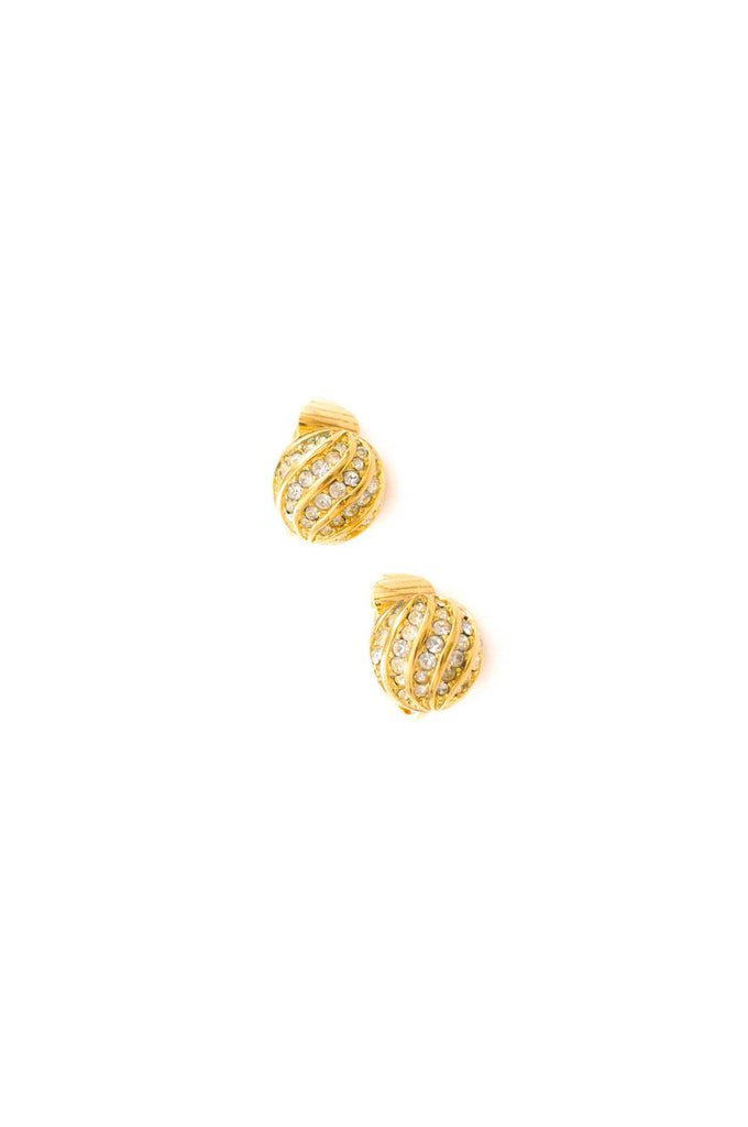 Christian Dior Rhinestone Clip-on Earrings