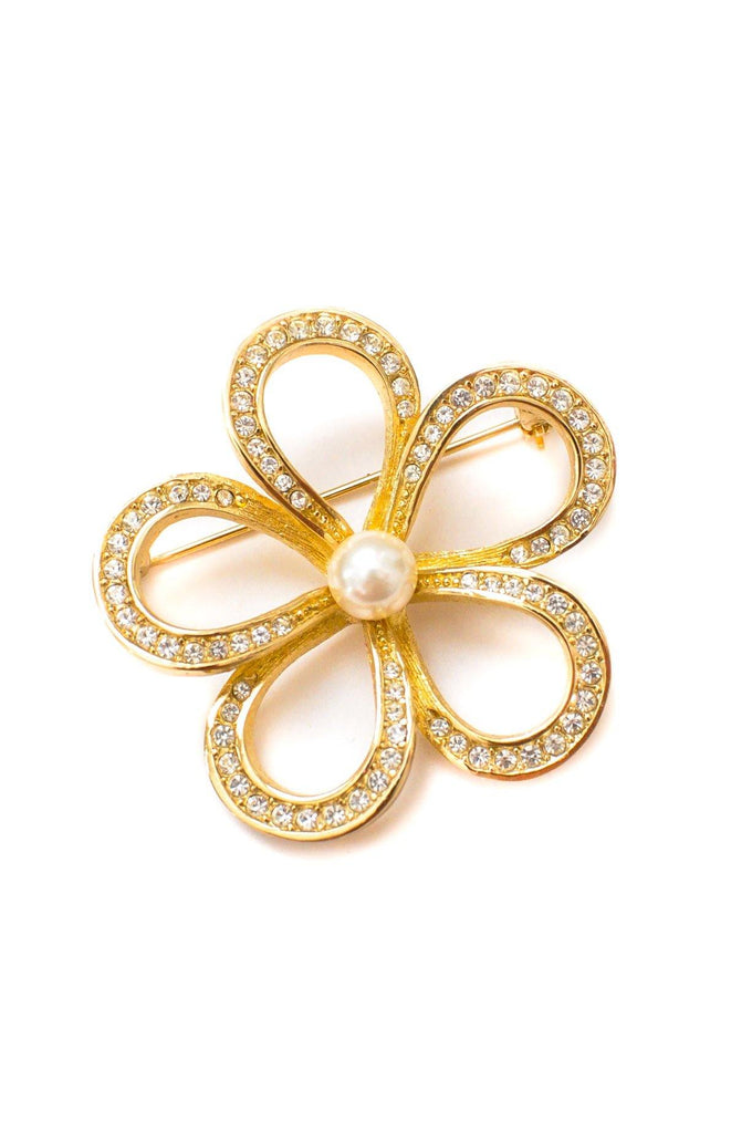 Christian Dior Floral Brooch