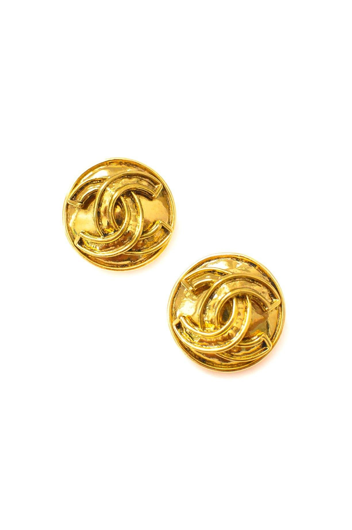 Chanel CC Classic Clip-on Earrings
