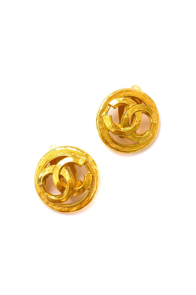 Chanel CC Cutout Clip-on Earrings