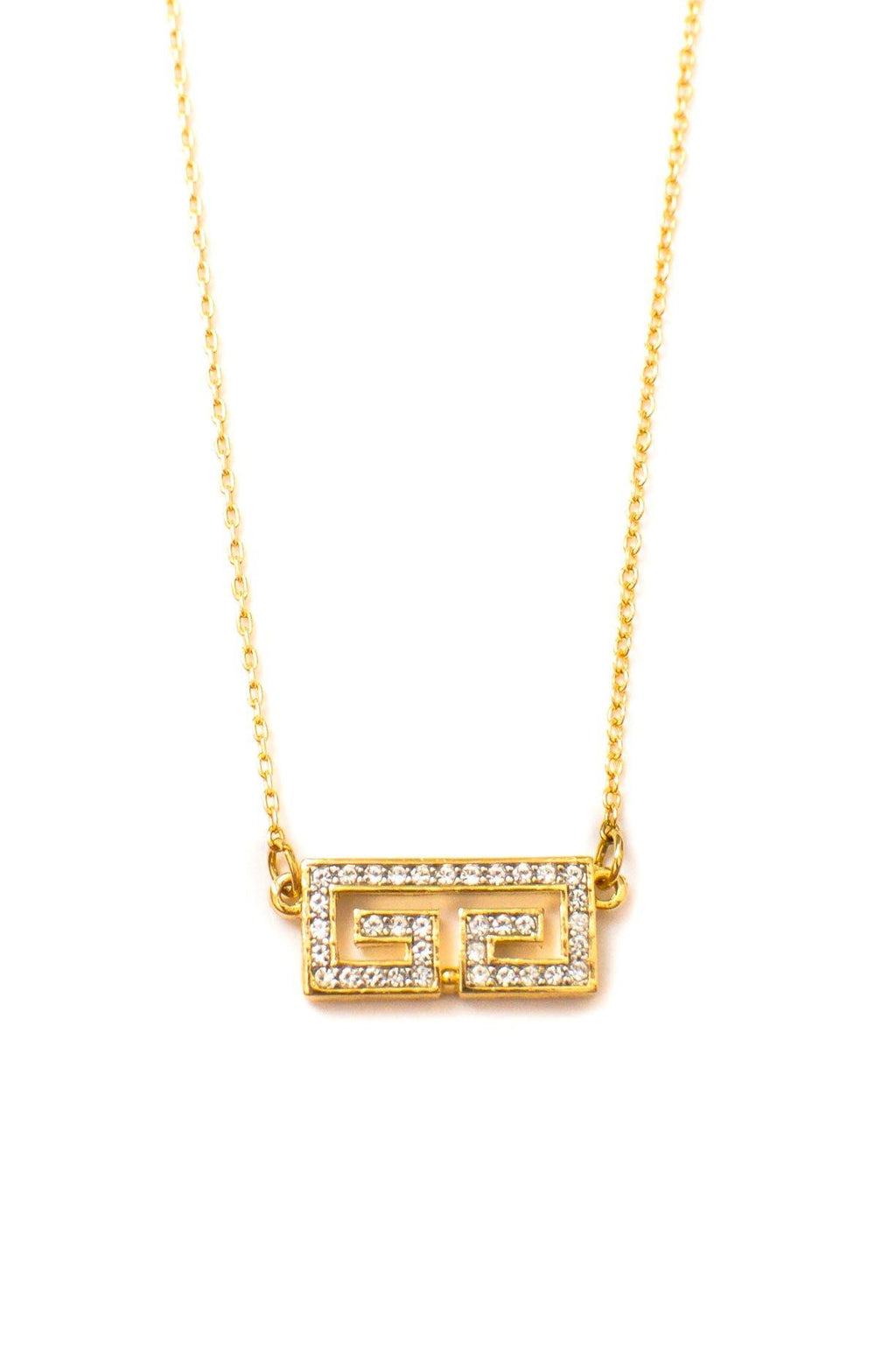 Givenchy Rhinestone Logo Necklace