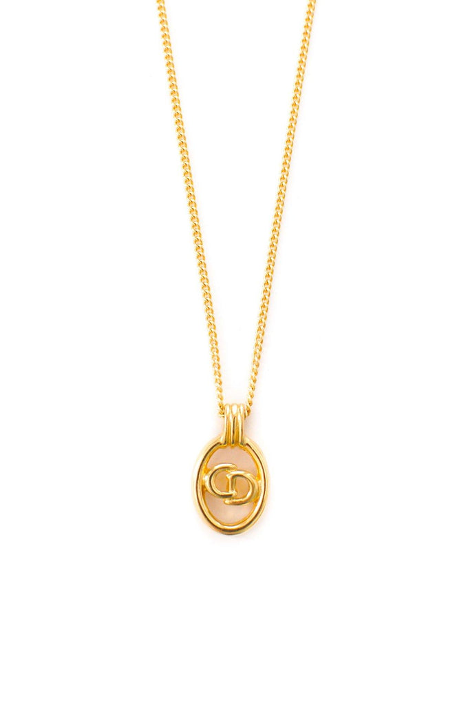 Christian Dior Logo Necklace