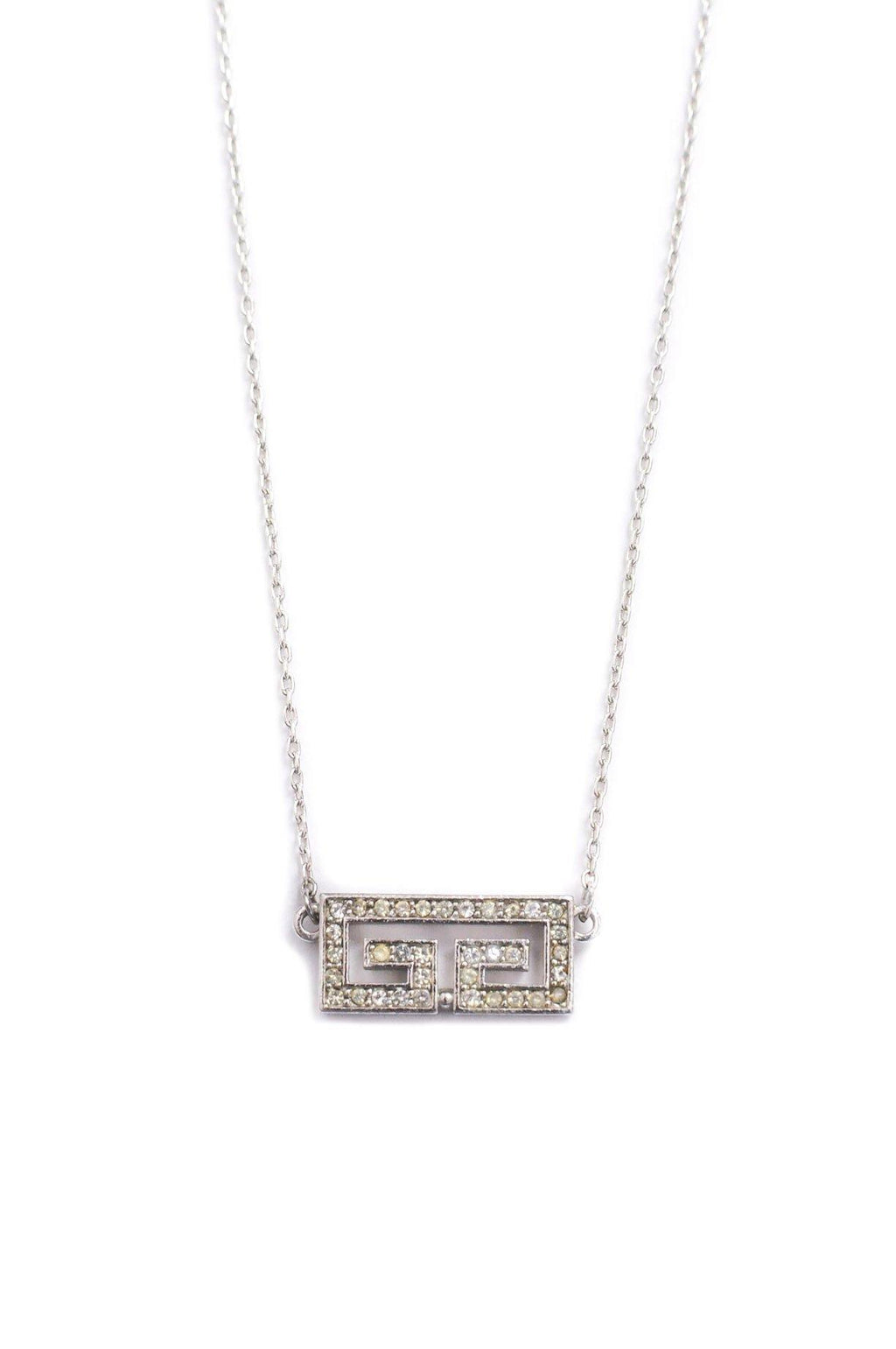 Givenchy Rhinestone Pendant Necklace