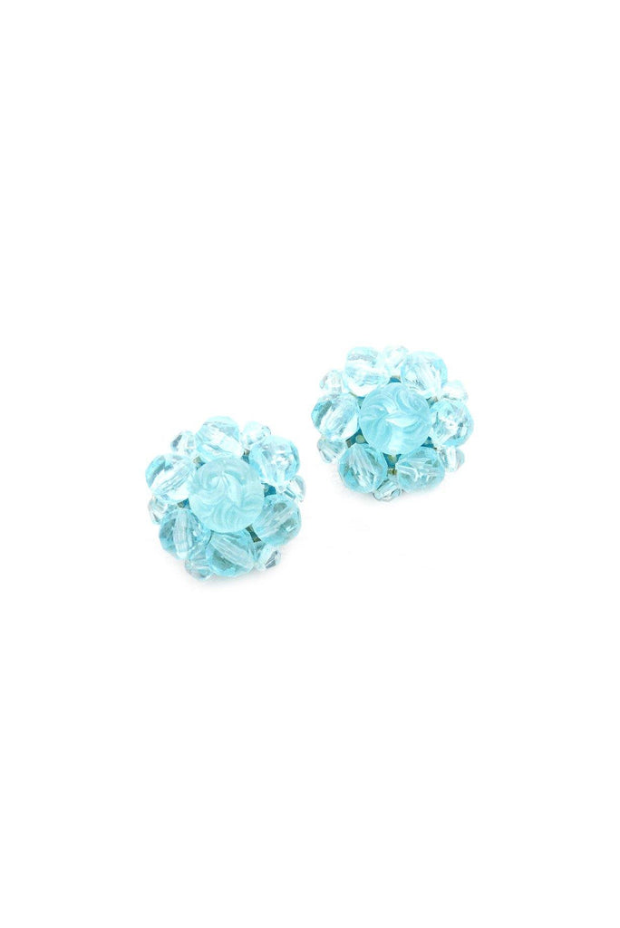 Blue Burst Clip-on Earrings