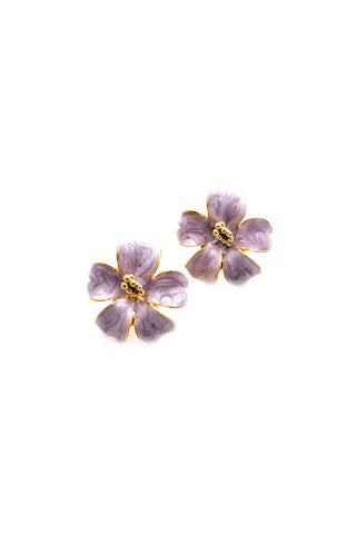 Hibiscus Pierced Earrings