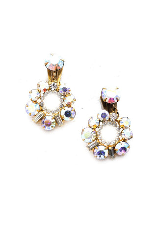 Iridescent Drop Clip-on Earrings
