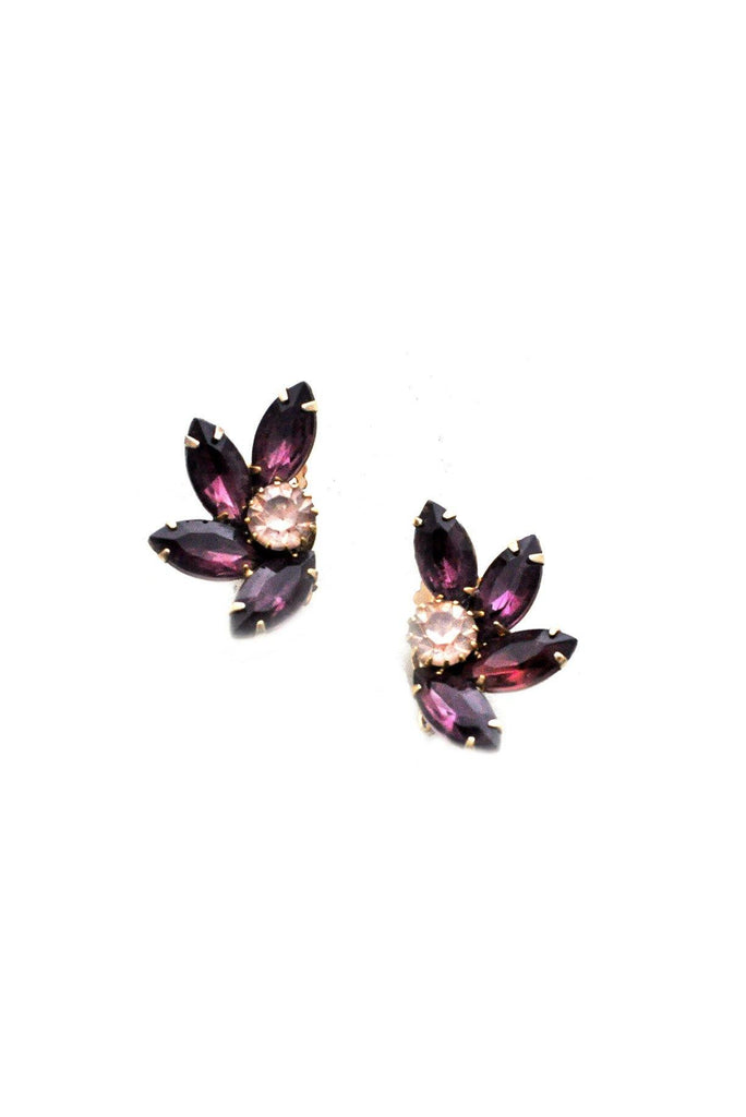 Amethyst Crawler Clip-on Earrings