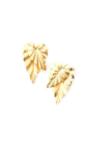 Leaf Statement Clip-on Earrings