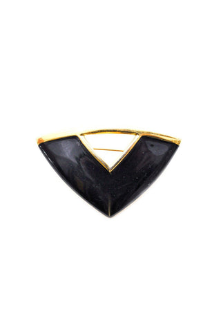 Black Triangle Brooch