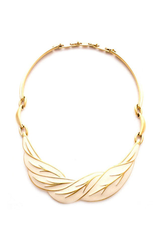 Enamel Leaf Statement Necklace
