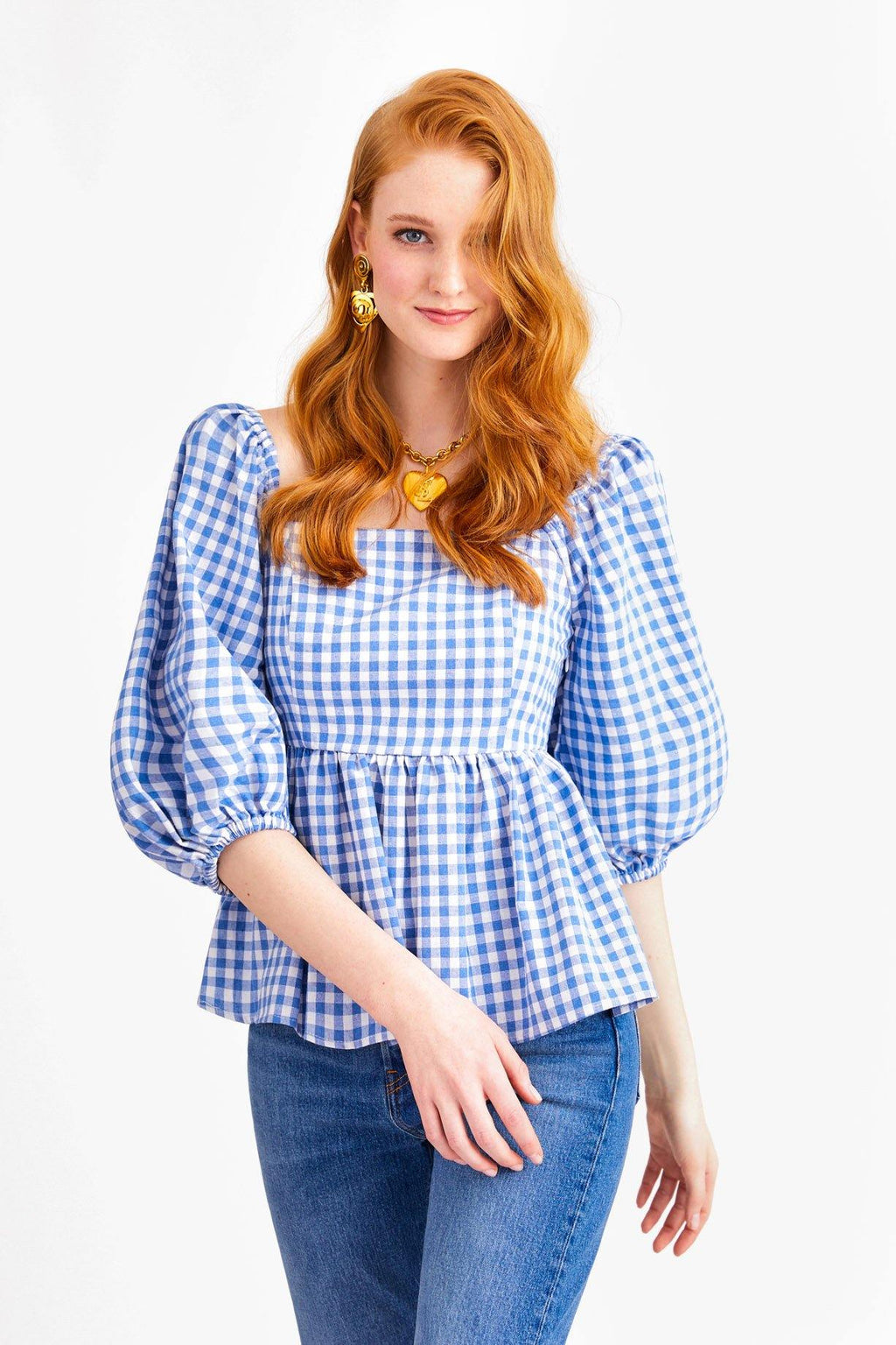English Factory Checkered Top