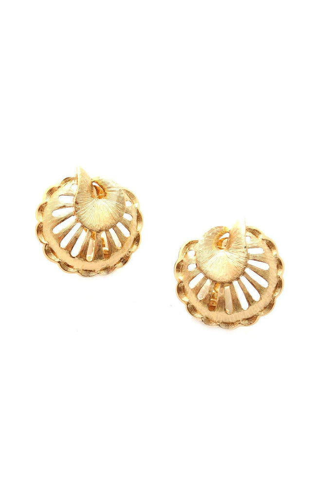 60s__Monet__Gold Clip-On Earrings