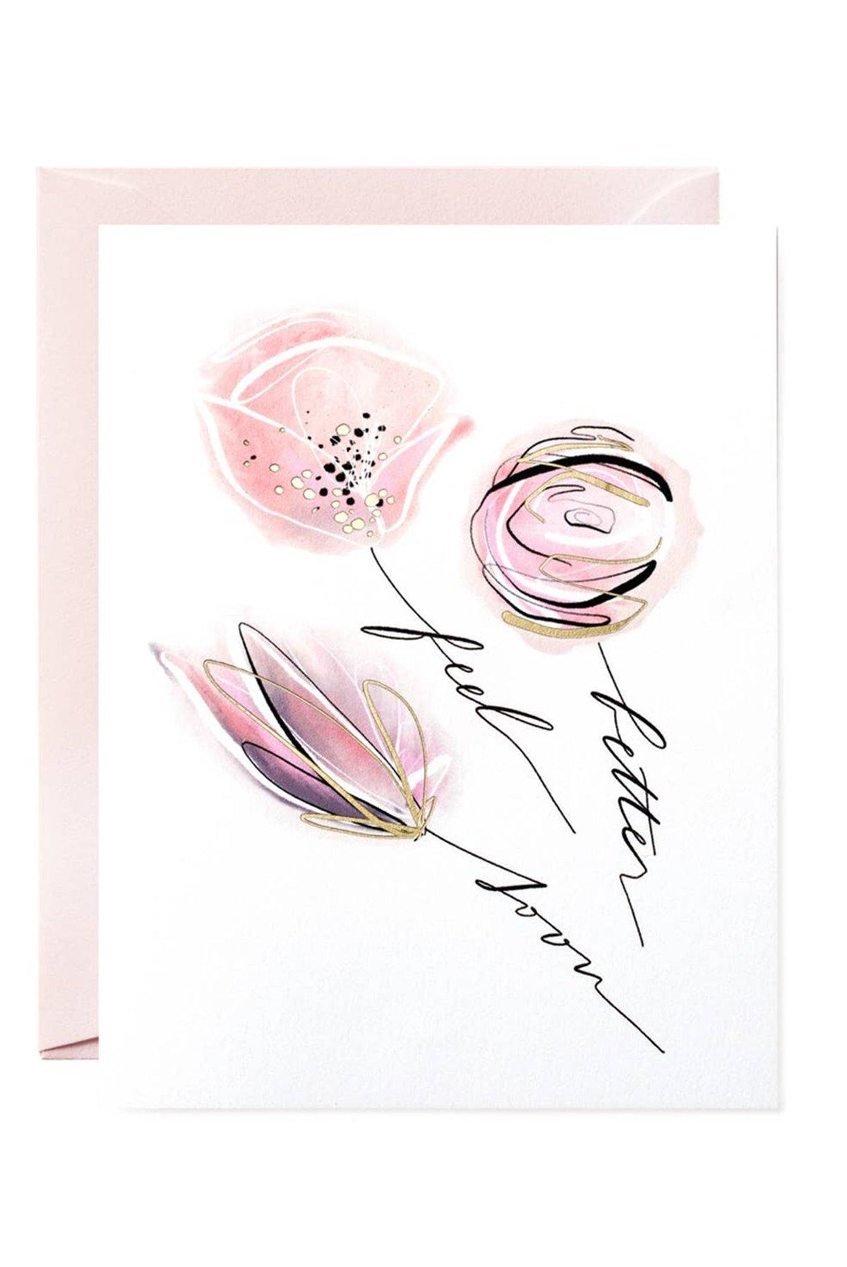 Feel Better Flowers Card - Sweet & Spark