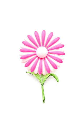 Neon Pink Flower Brooch