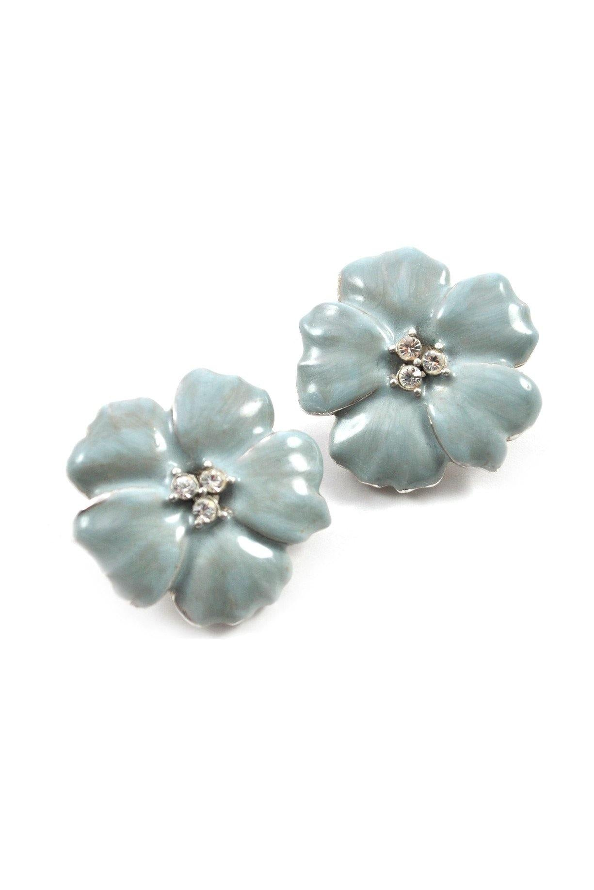 80s__Erwin Pearl__Floral Clip-On Earrings