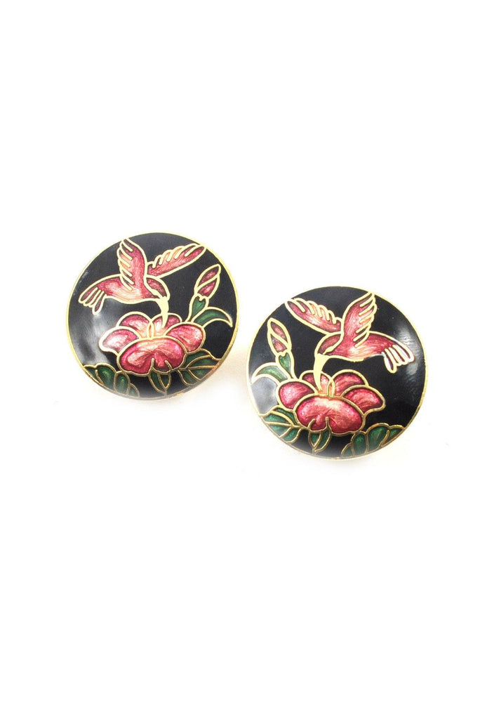 70s__Vintage__Floral Clip-On Earrings