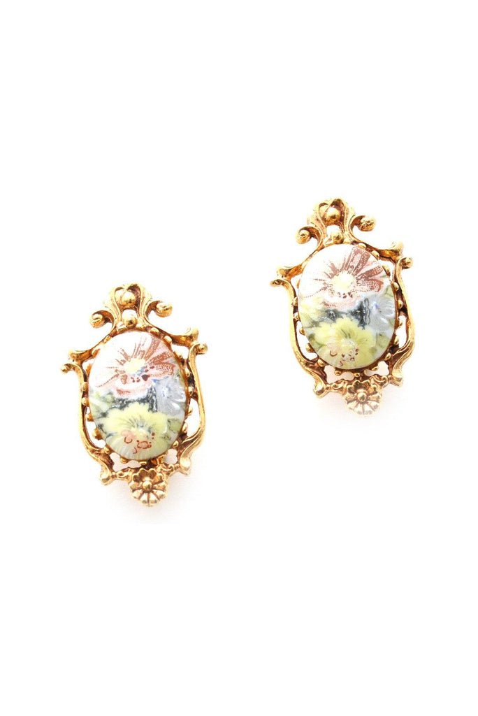 60s__Florenza__Floral Clip-On Earrings