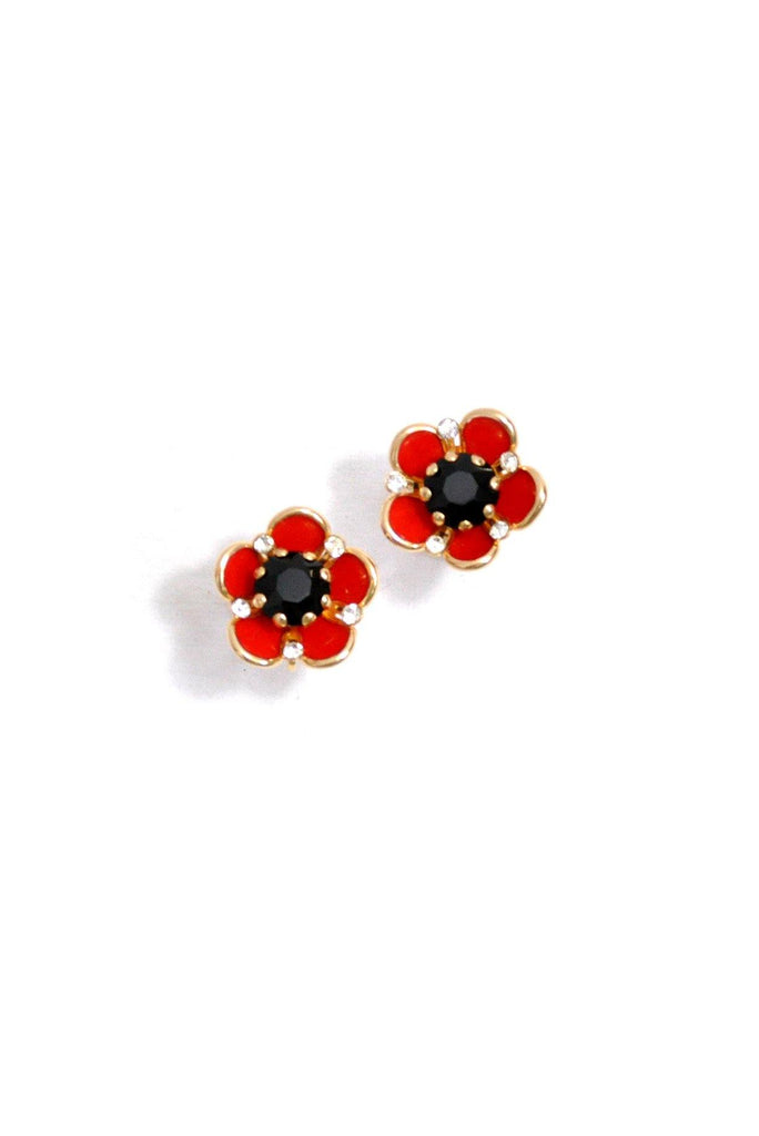 50's__Vintage__Floral Statement Clip-On Earrings