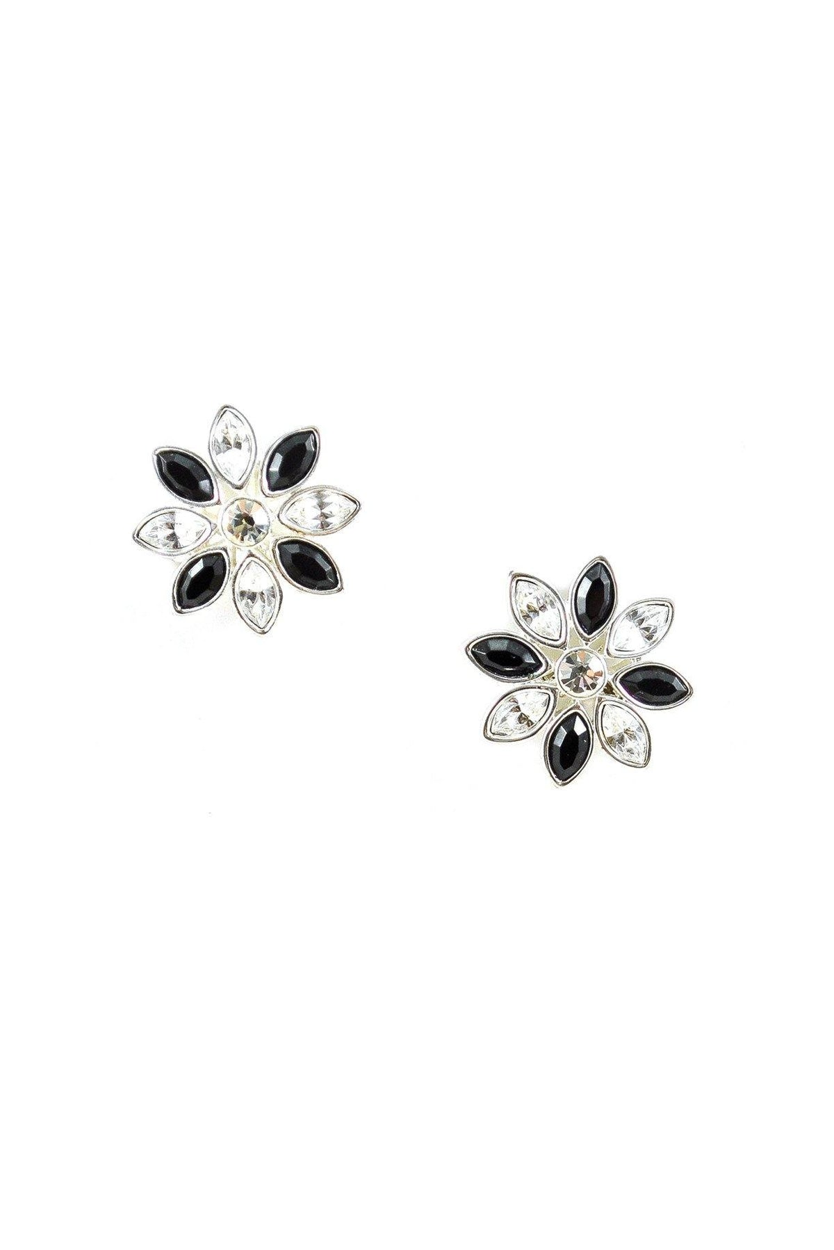 80's Napier Floral Rhinestone Clip-ON Earrings